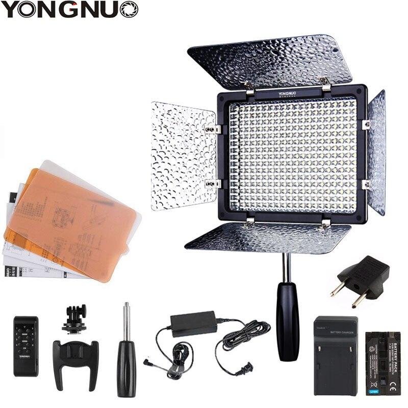 Yongnuo yn300 iii YN-300 iii 3200k-5500k cri95 câmera foto led luz de vídeo opcional com adaptador de alimentação ca + kit de bateria