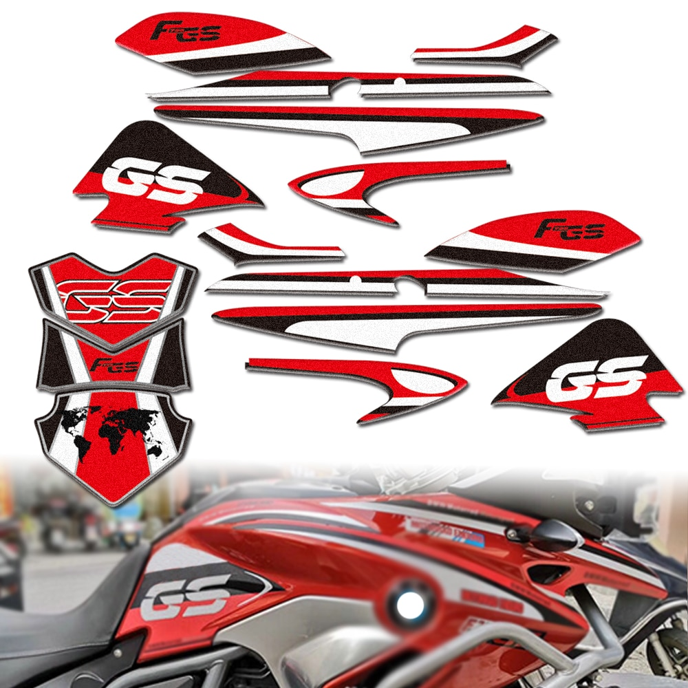 new motorcycle fuel tank side box protection sticker anti scratch decorative decal for bmw f850gs adv f 850 adv Motorcycle Fuel Tank Sticker Side Box Body Decoration Protection For BMW F700GS F 700GS 2013- 2017