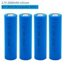 18650 Rechargeable Lithium Ion Battery Batteries 2600 Mah 3.7V Li-ion Real Capacity 2600mah