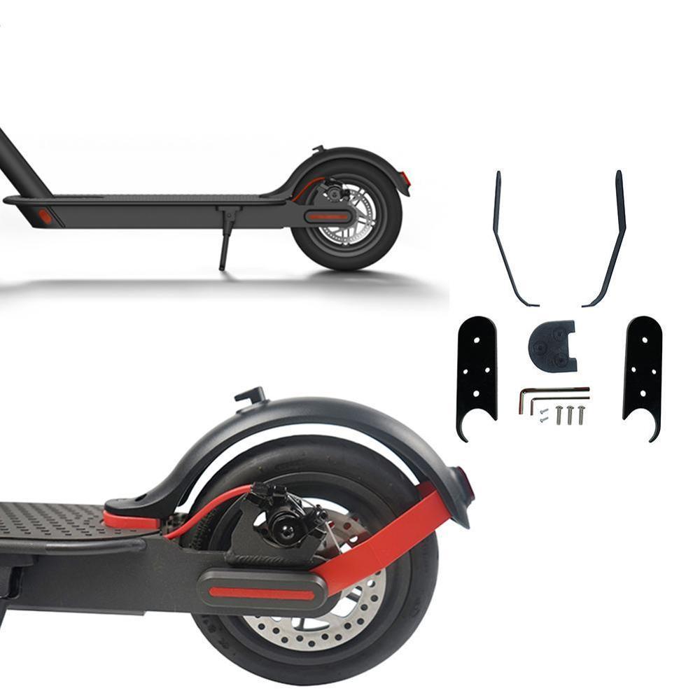 Espaciador de guardabarros trasero, Kit de 10 pulgadas para rueda con soporte para el pie M365 y estampado 3D para Xiaomi M365Pro