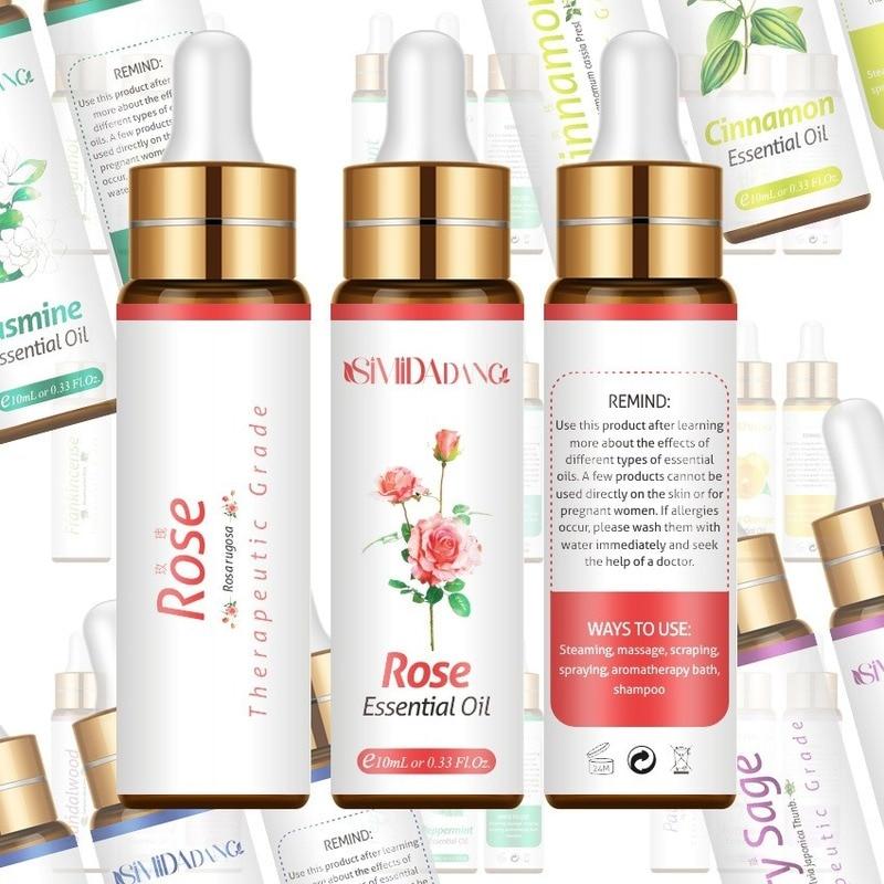 Essential Oil Massage Aromatherapy Plant Essential Oil 10ML Pure Essential Oil Diffuser Herbal Extract Massage Essential Oil