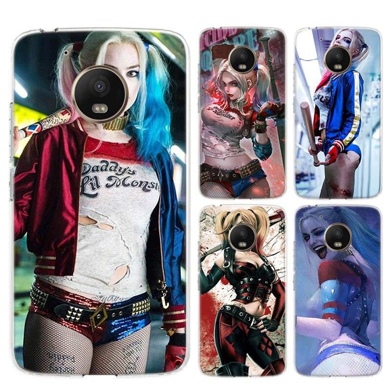 Harley Quinn  Silicone Soft Case For Motorola Moto G8 G7 Power G6 G5 G5S E4 E5 Plus G4 Play Cover Coque