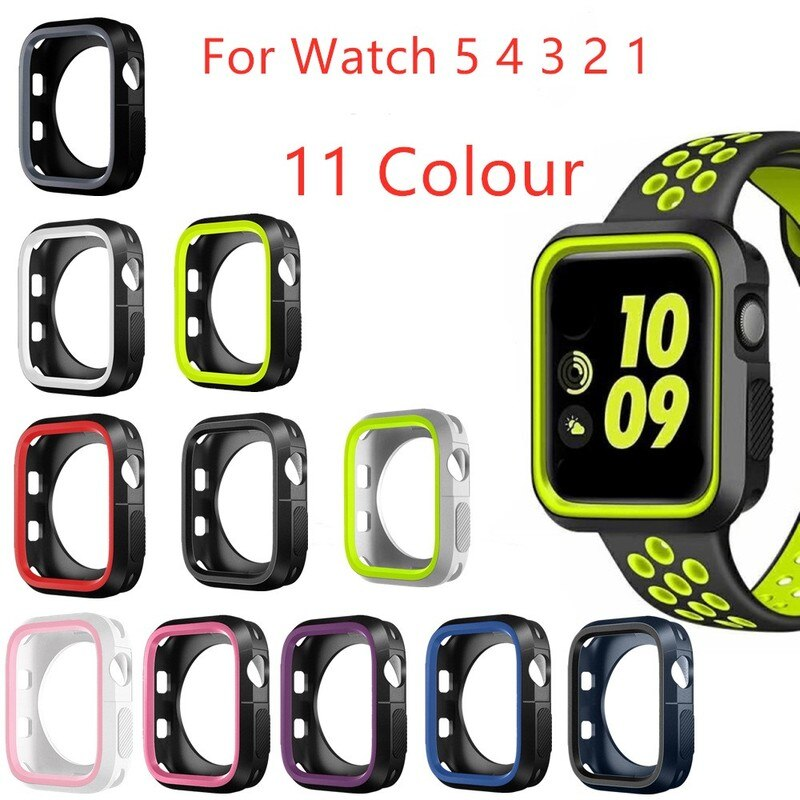 cartoon style protective frame bumper anti scratch case for iwatch 5 4 3 2 1 tpu cover full case for apple watch 44 40 42 38mm New Soft TPU protective Case for Apple Watch 44mm 40mm 38mm 42mm Cover Shell Perfect Bumper For Apple iwatch case Series 5/4/3/2