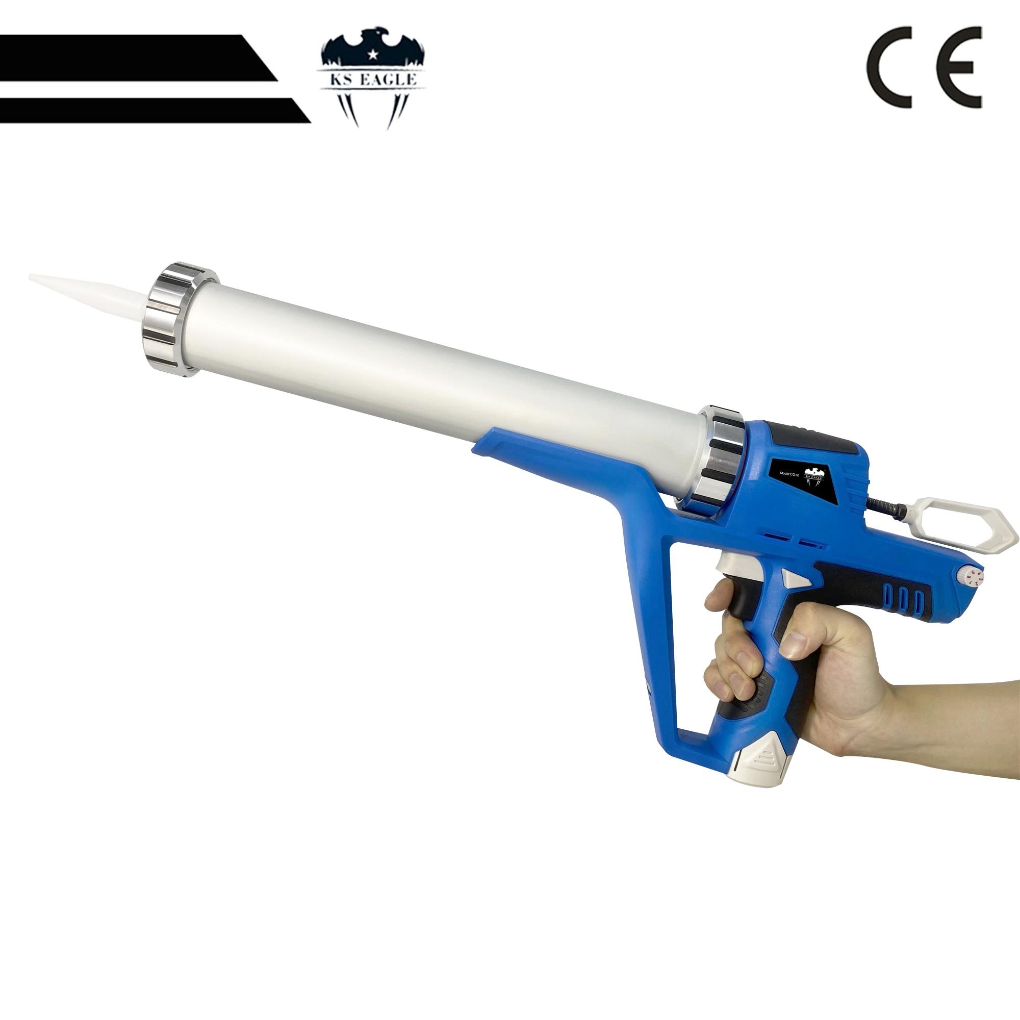 Electric Caulking Gun Cordless Portable Glass Hard Rubber Sealant Gun Handheld Rechargeable With Battery