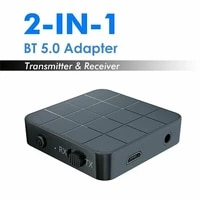 bluetooth 5 0 audio receiver transmitter 2 in 1 aux rca 3 5mm jack usb music stereo wireless adapters for tv pc car speaker