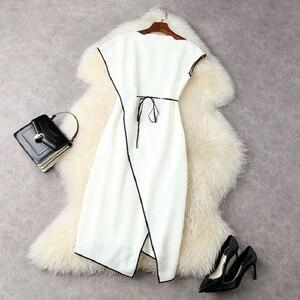 Женское асимметричное платье-карандаш, лоскутное платье с круглым вырезом и коротким рукавом, Привлекательное платье до середины икры, лето 2021