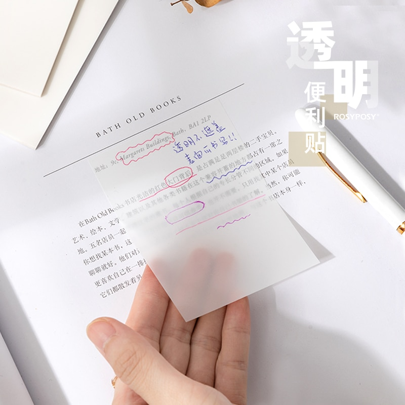Dimi 50 Sheets Waterproof PET Transparent Sticky Note Memo pad Daily To Do List Paperlaria School Stationery Office Accessories