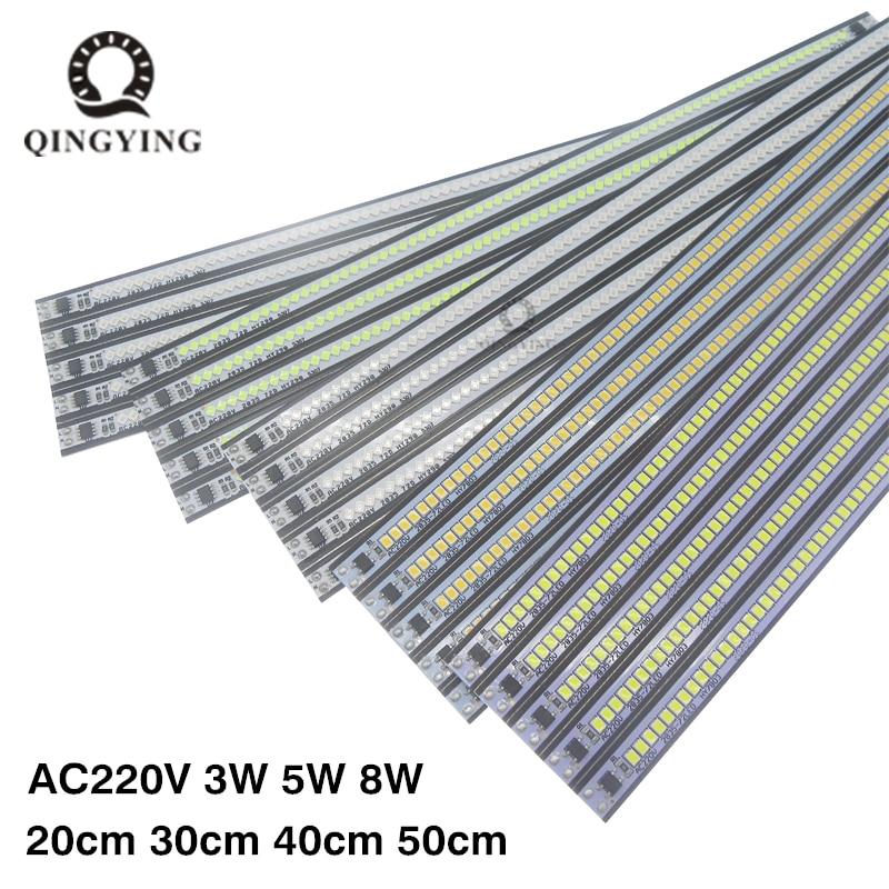 10pcs AC220V LED Bar Light High Brightness 20cm 30cm 40cm 50cm SMD2835 LED Rigid Strip Model Energy