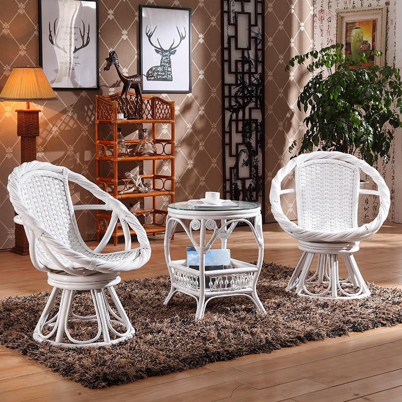 جديد فناء شرفة الشاي شرب طاولة صغيرة وكرسي الخوص كرسي الذاتي مزيج الروطان بسيطة الترفيه دعوى الخشب كرسي