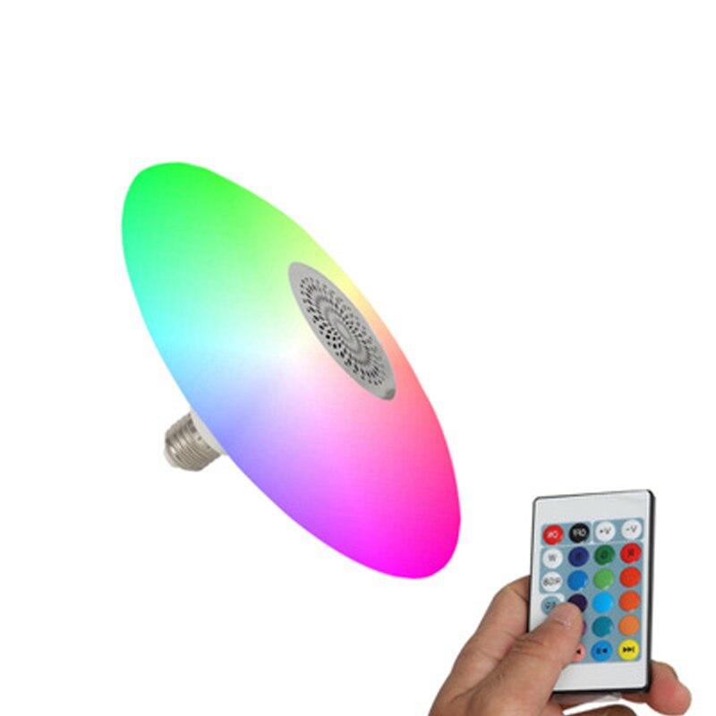 Smart RGB Bluetooth Musik UFO Lampe E27/B22 Lampe halter mit 24 keys fernbedienung AC85-260V 30W UFO audio Licht