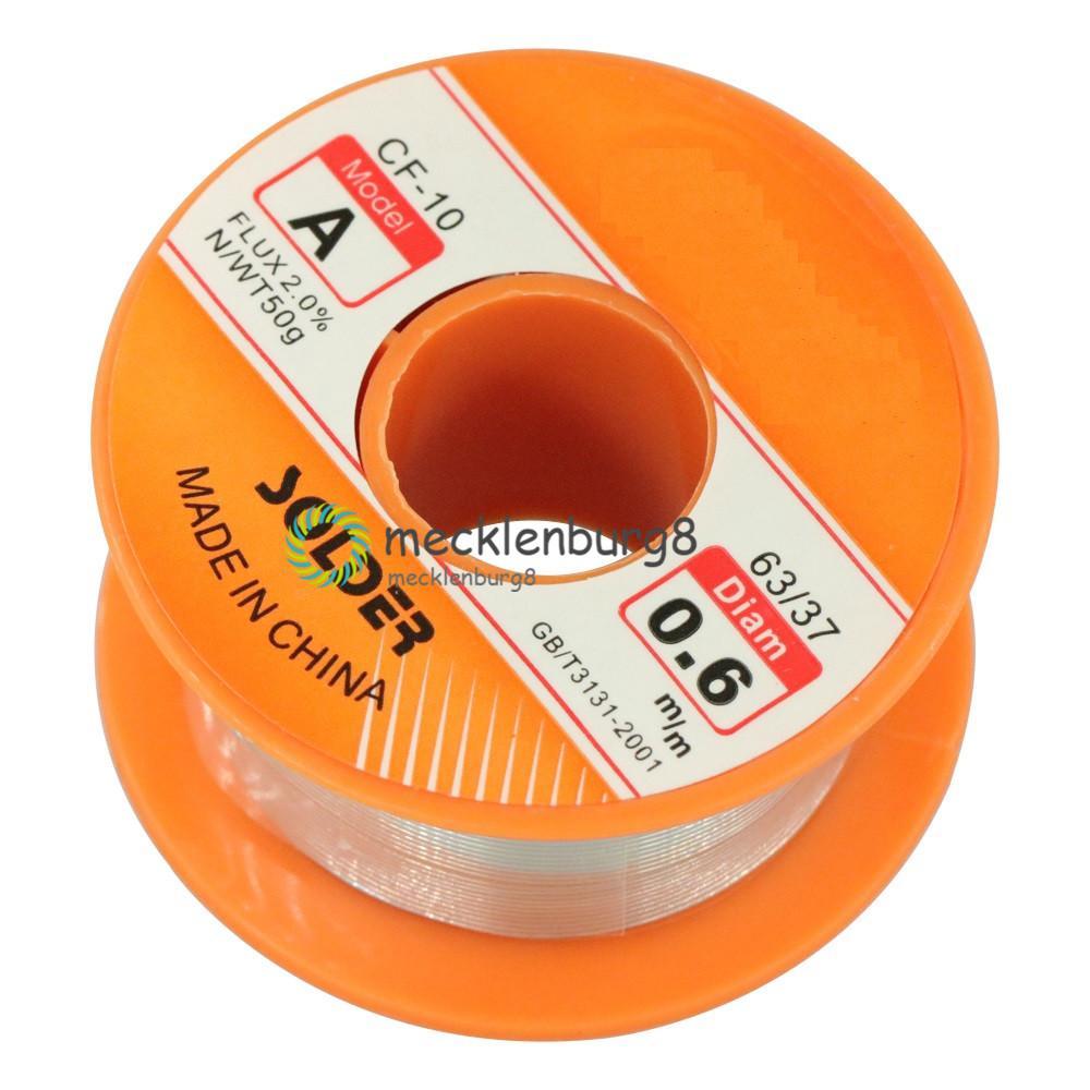 Nieuwe 50G 0.6 Mm 2.0% Tin Tin Lead Wire Melt Rosin Core Soldeer Soldeer Wire Roll