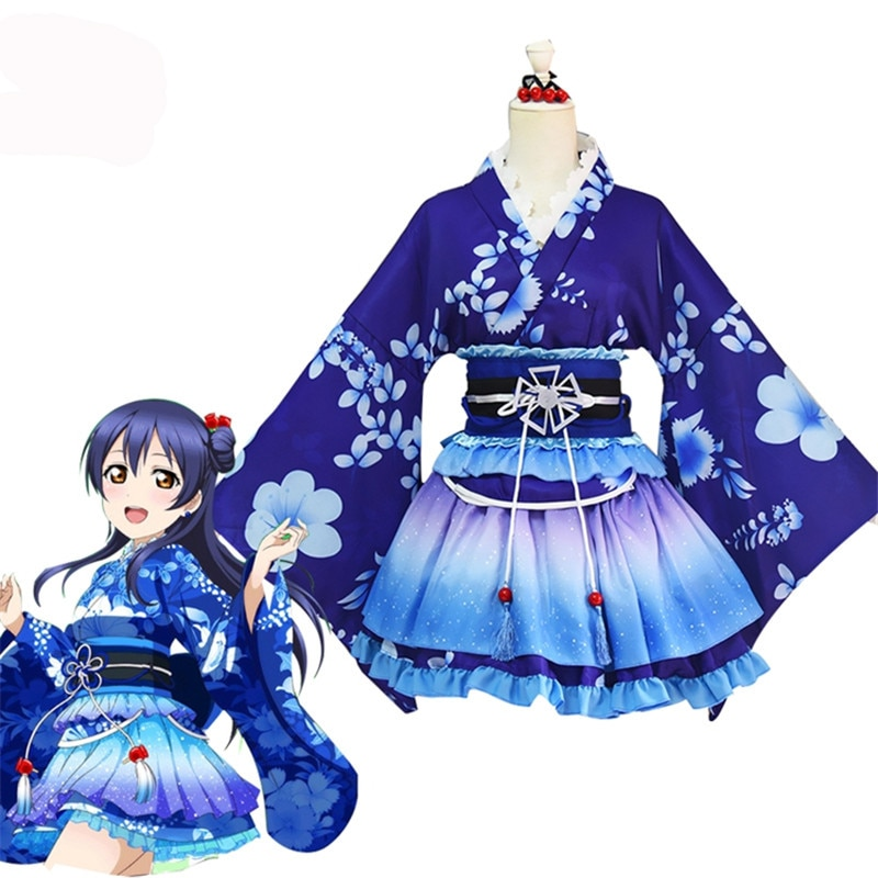 LoveLive Cosplay Sonoda Umi Cosplay Costume Kimono Nishikino Maki Honoka Honoka Eli Kimono Party Festival Halloween Costume lovelive love live ayase eli flower kimono yukata dress uniform outfit anime cosplay costumes