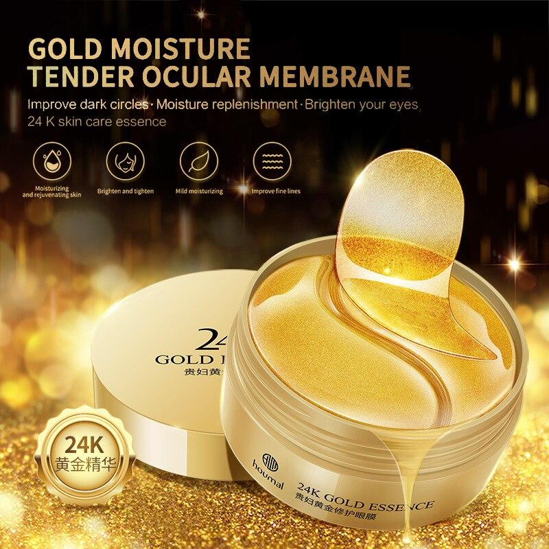 Gold Moisturizing Seaweed Crystal Collagen Eye Mask Patch 60pcs Anti-Wrinkle Anti Aging Remove Dark