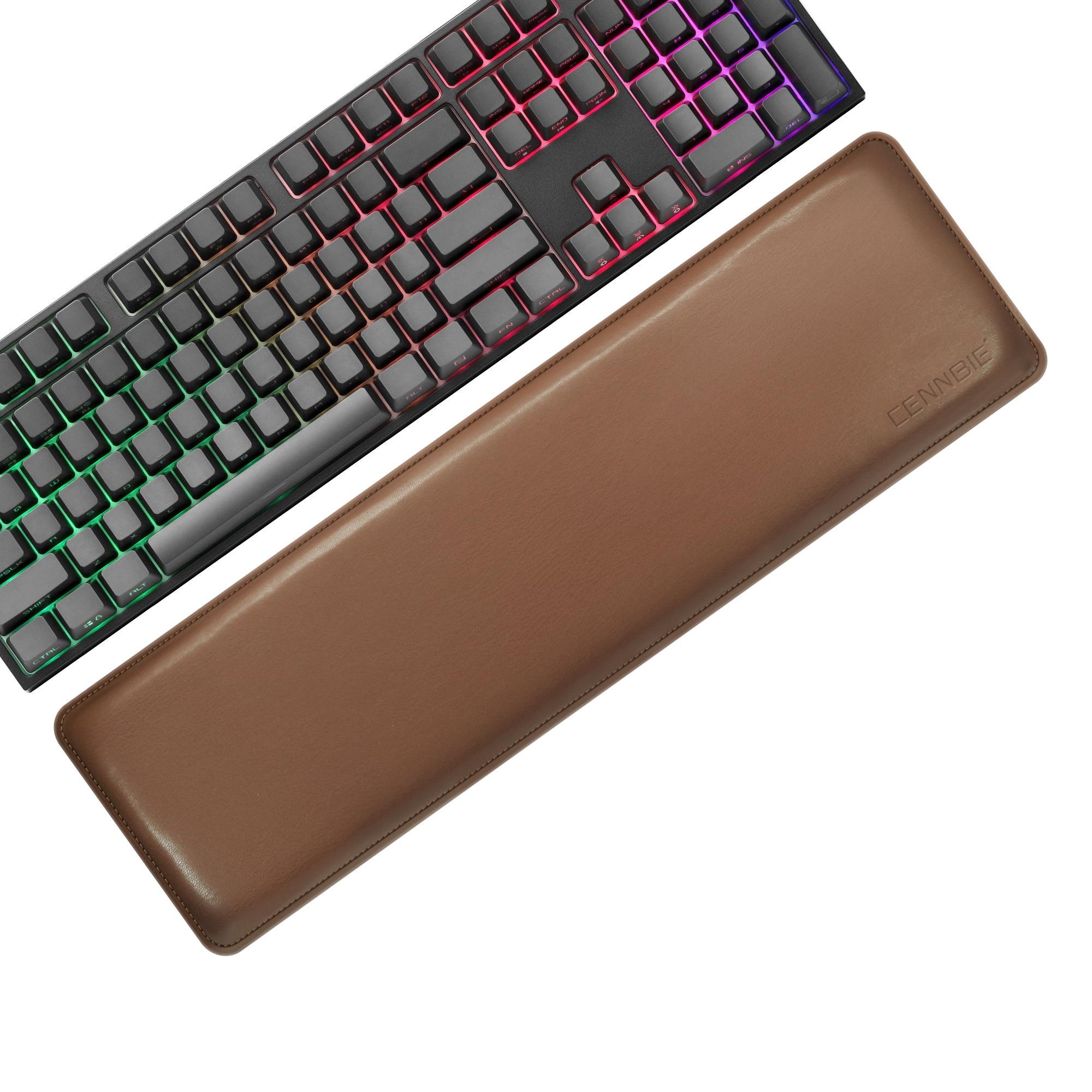 اضافية كبيرة دائم بولي Leather الجلود لوحة المفاتيح المعصم الراحة وسادة ، وسادة لوحة المفاتيح ، دعم المعصم لأجهزة الكمبيوتر المحمول والكمبيوتر