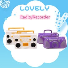 2pcs Mini Furniture toy Super Combination Pretend Play Toys Radio/Recorder for Doll Accessories Gift