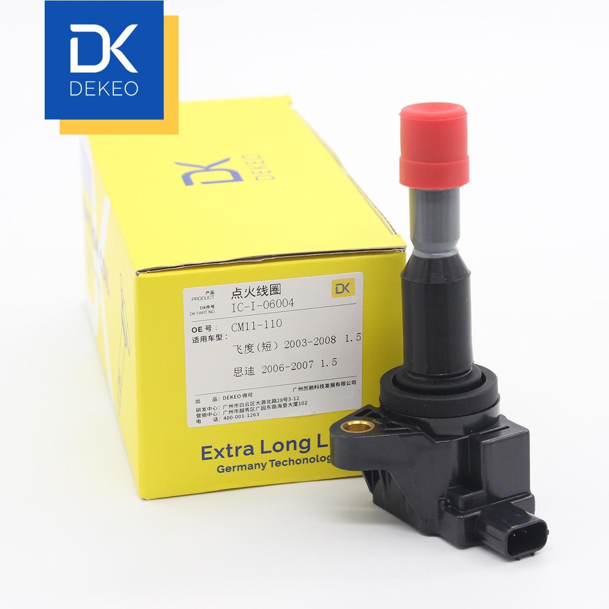 DEKEO bobinas de encendido para Honda Fit (GD) 1.5L L15A1 Fit (GD) 1.5L L15A1 ciudad 1.5L L15A1 CM11-110