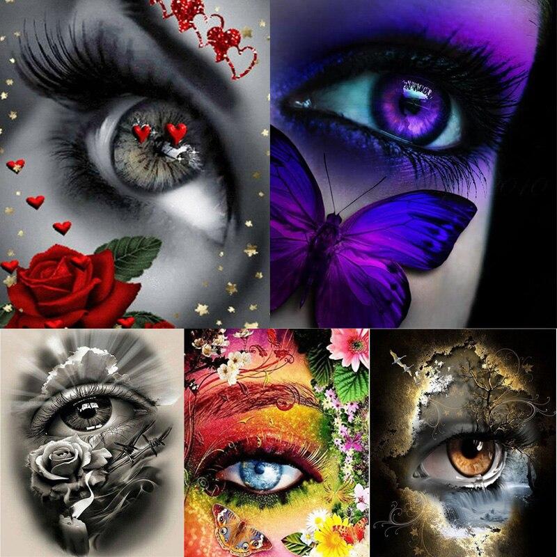 Алмазная краска Алмазная вышивка 5d diy полностью квадратная красивая Роза глаза Алмазная мозаика Алмазная краска DIY daimond краска ing