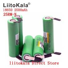 NEW 1-10PCS/lot Original  Liitokala 18650 2500mah battery INR18650 25RM 20A discharge lithium batteries