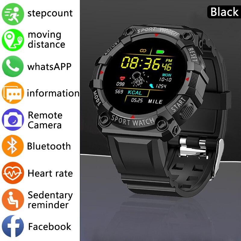 LIGE New Smart Watch Fitness Color Screen Smart Sport Bracelet Activity Running Tracker Heart Rate F