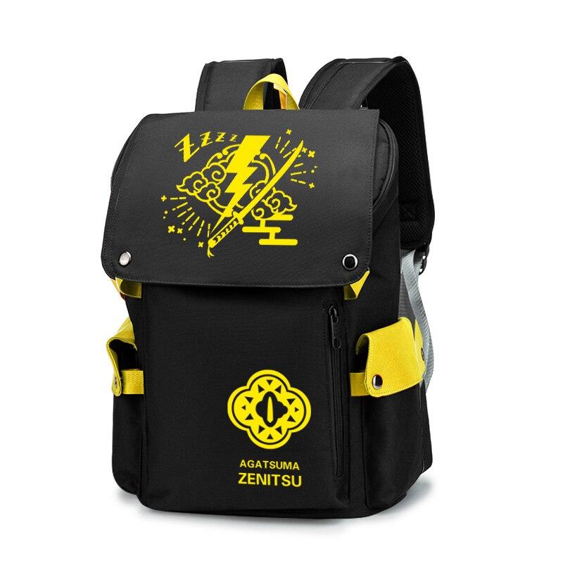 Дорожный рюкзак с аниме мультяшным изображением рассекающего демонов камадо танджиро незуко, повседневная школьная сумка, студенческие рю...