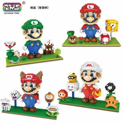 2019 popular diseño Super Marios bloque de construcción de cuatro colores elegir bloques de juguete 2000 Uds. Paquete de caja de bloques de diamante