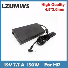 LZUMWS 19V 7.7A 4.5*3.0mm150W Notbook Power Supply Laptop Adapter for HP ADP-150XB G3 G4 ZBook 15 HS