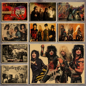 New Nostalgic rock band singer poster collection home decoration painting core room picture painting