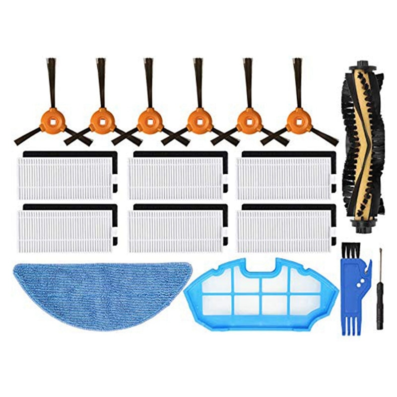 Replacement Parts Accessories for Yeedi K700 Robot Vacuum Cleaner Filters, Brushes, Mop and Screen