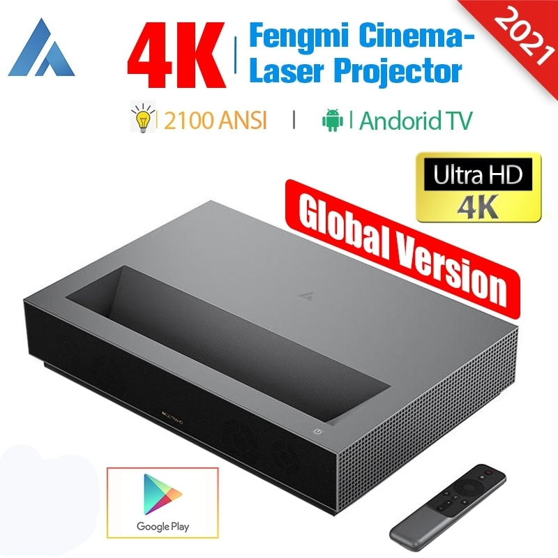 [النسخة العالمية] Fengmi 4K ليزر العارض المسرح المنزلي سينما 4K أندرويد شاومي TV اللاسلكية واي فاي 2100ANSI لجوجل فيديو HDR10