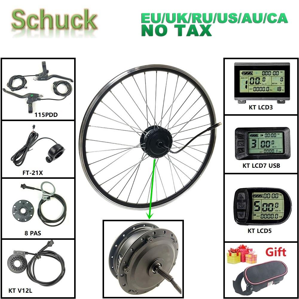 Schuck elétrica-kit de conversão para bicicleta, com KT-LCD display led frontal hub motor bicicleta elétrica kit de