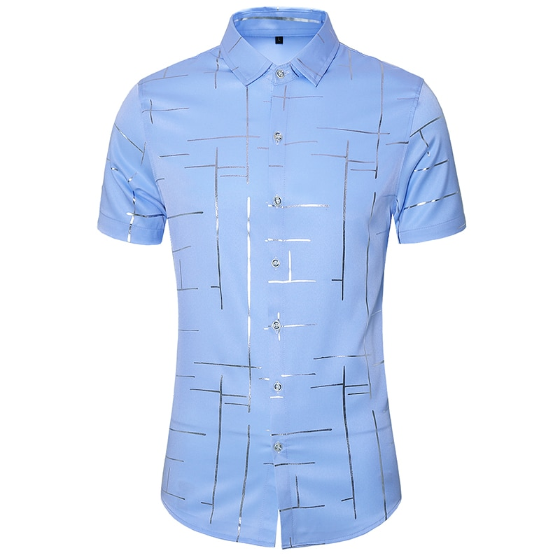 Plus Size 7XL Summer Casual Plaid Shirt For Men Party Holiday Vacation Beach Shirts Male