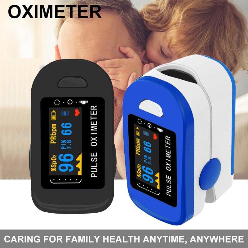 Medical Household Digital Fingertip pulse Oximeter Blood Oxygen Saturation Meter Finger LED SPO2 PR Monitor health Care