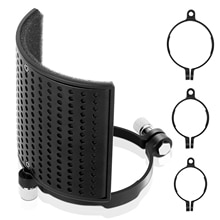 TEYUN Microphone Pop Filter Shield Filter Screen Metal Mesh Three Layer Microphone Windscreen Cover for Microphones New 2020