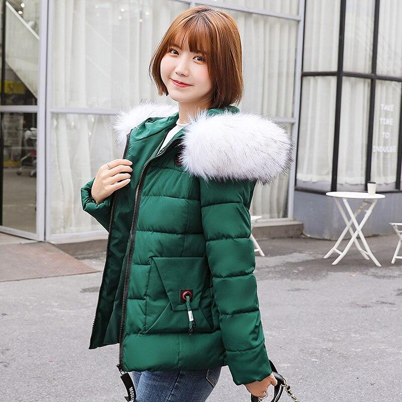 Parkas de Invierno para mujer 2019 de talla grande 7XL abrigo chaqueta con capucha gruesa caliente prendas de vestir exteriores mujeres delgadas partes de arriba básicas y acolchadas de algodón abrigos
