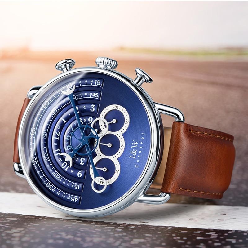 CARNIVAL Brand Fashion Watch Man Women Luxury Waterproof Sport Quartz Wristwatch Gold Silver Chronograph Clock Relogio Masculino enlarge