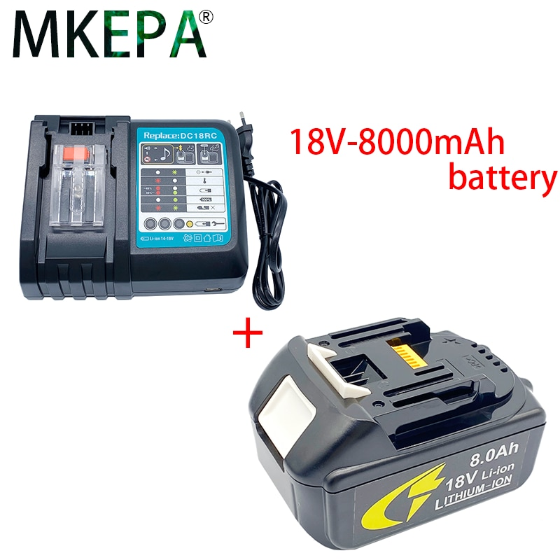 BL1860 بطارية قابلة للشحن 18 فولت 8000 مللي أمبير ليثيوم أيون لماكيتا 18 فولت BatteryBL1860B LXT 400 + شاحن