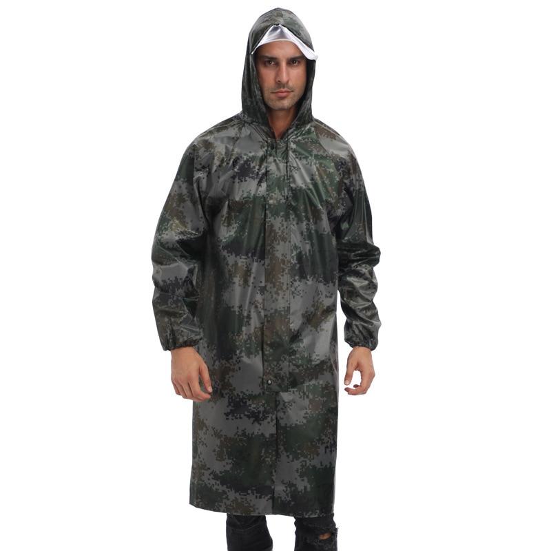 Camouflage Raincoat Portable Long Outdoor Waterproof Raincoat Camping Supplies Emergency Hiking Chubasqueros Raincoats BG50RG enlarge