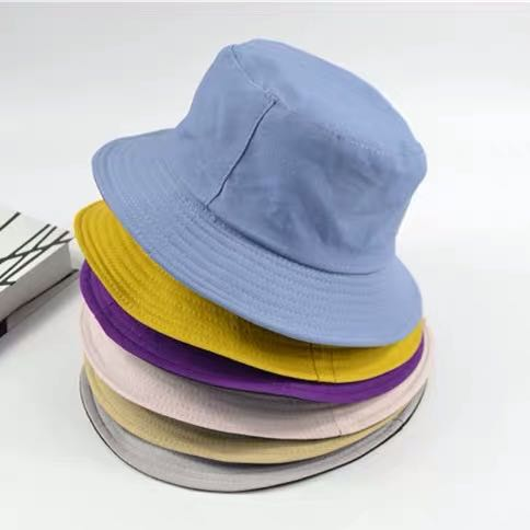 Sombrero de cubo de ala ancha de verano con doble cara de colores sólidos, sombrero de Sol para adultos, sombrero de playa con protección UV, tapa redonda para protección solar, gorra de pescador