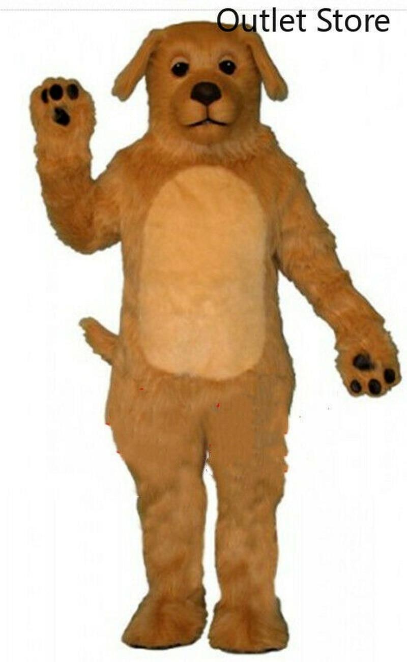 عيد الميلاد براون الكلب زي التميمة الدعاوى تأثيري لعبة حفلة فستان الزي الملابس