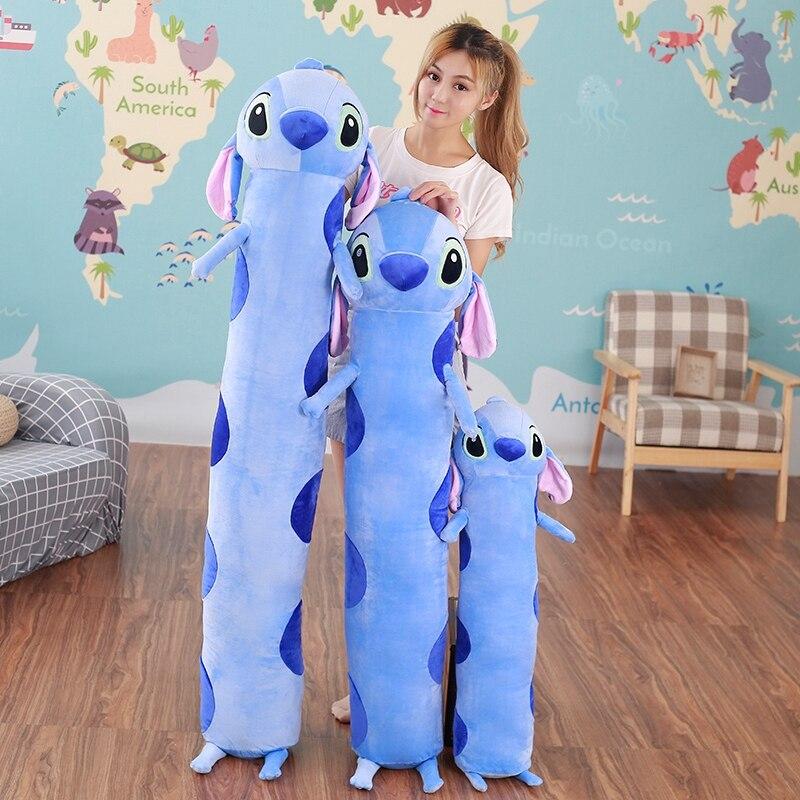95-175cm almohada larga para dormir gran relleno de dibujos animados Stitch felpa cojín trasero sillas con relleno cojín regalos de cumpleaños para niños