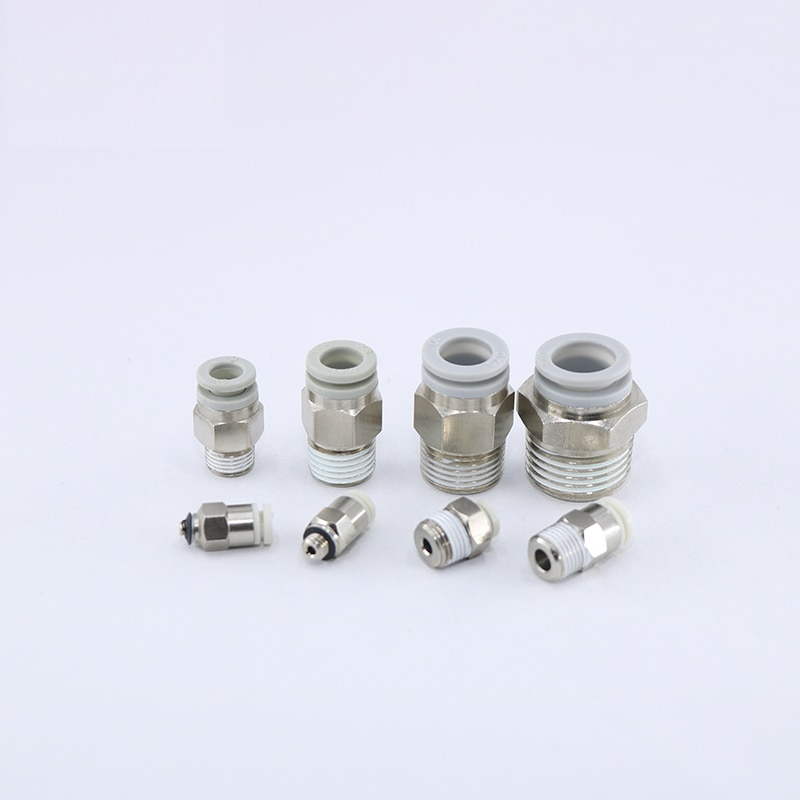 Smc branco conector pneumático mini conector de tubulação de ar kjh4/04 kjh3 kjh6/06 kq2h08-m3/m5/m6/01 componentes pneumáticos