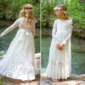 Soft Tulle Lace Kids Clothes Baby Long Sleeve Autumn Girls Dress Spring Autumn 2019 New Girl Party Princess Dress