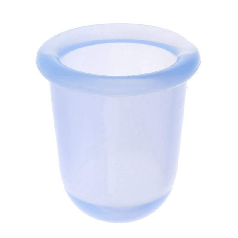 Estropajo de silicona para terapia al vacío, masajeador anticelulitis, Ventosas para masaje, azul