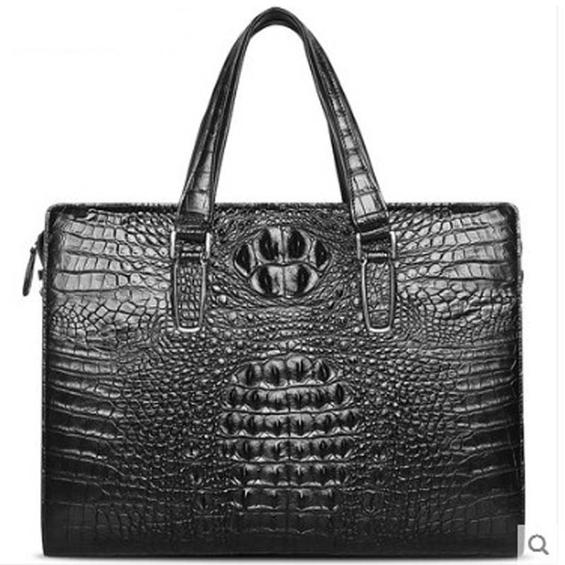 STEPH&CK new arrival Crocodile leather man bag handbag crocodile leather bag leather man business bag leather men briefcase