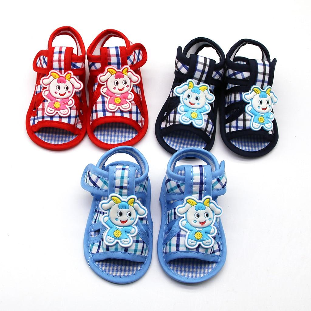 Newborn Baby Girls Lamb Prewalker Soft Sole Sandals Single Shoes  Baby Kids Sandals For Summer Child