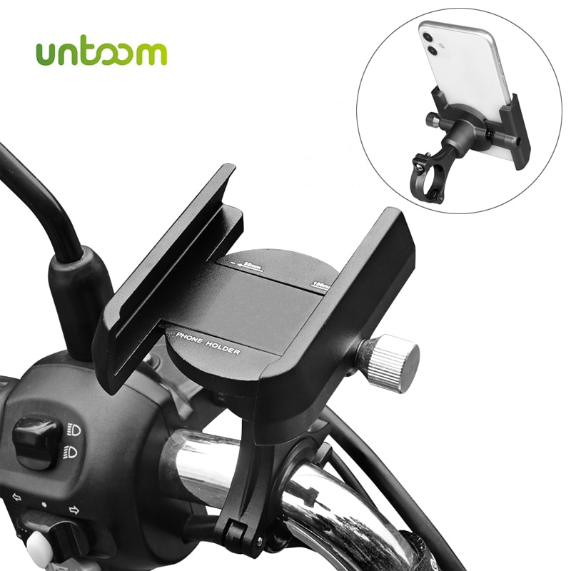 Soporte de teléfono para bicicleta Untoom, soporte para teléfono móvil para motocicleta, Clip para manillar de bicicleta Scooter para iPhone, Samsung, Xiaomi, soporte GPS