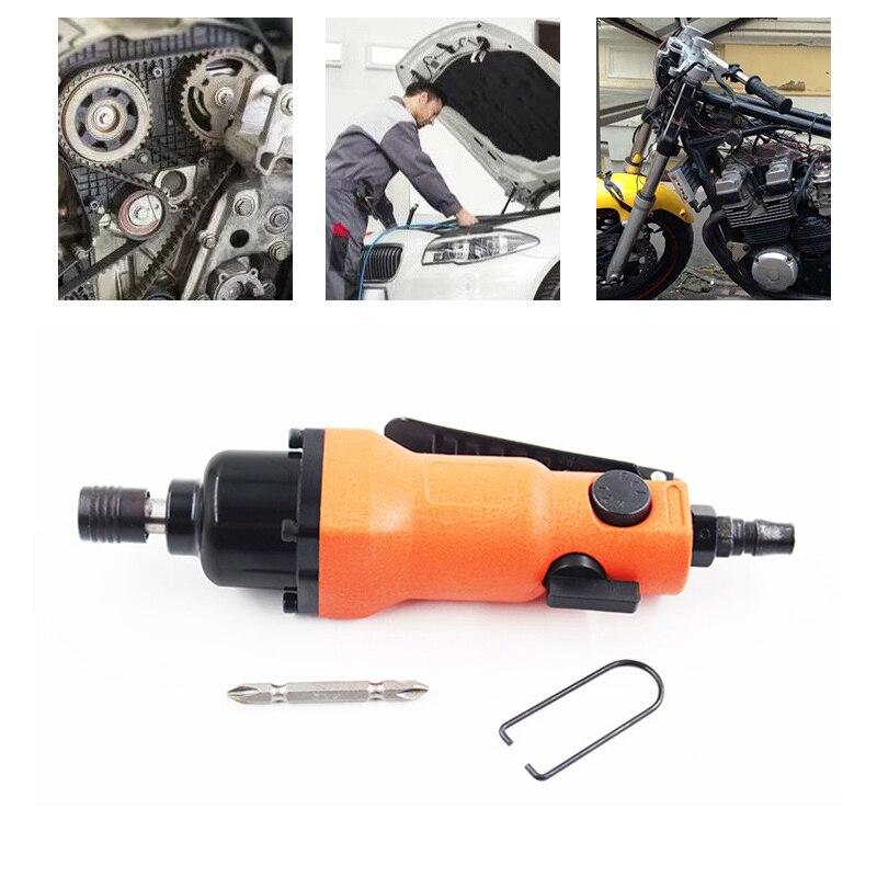 """Destornillador de neumático de aire de 1/4 """", 8000RPM, juego Industrial de 6-8mm, 8H de torsión, controlador recto, herramienta de aire para reparación de carpintería para el hogar"""