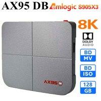 AX95 DB Amlogic S905X3-B Smart Android 9.0 TV Box 4 Гб RAM 32 Гб 64 Гб 128 Гб ROM 4K HD Set top Box Поддержка Dolby Blu-ray BD MV ISO