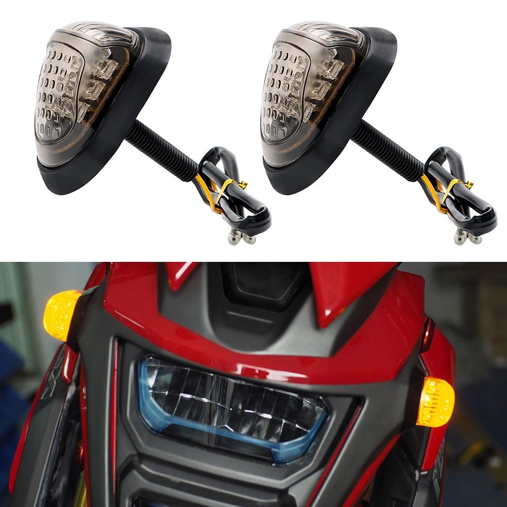 12V Yellow Lighting Motorbike Indicators Blinker 9 LED Motorcycle 1Pair Piranha Light Flasher Turn Signal Light Led Turn Signal 12v yellow light car signal light 5 piece