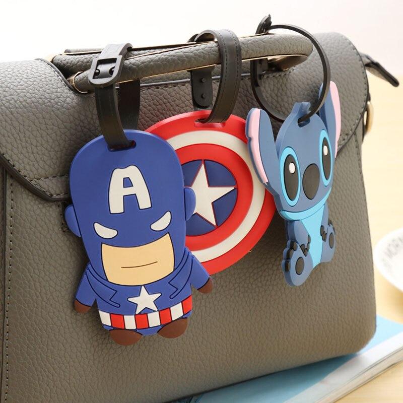 Travel Accessories Cartoon Cute Silica Gel Luggage Tag Women Men Portable Label Suitcase ID Address Holder Baggage Boarding